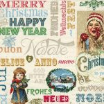 Servilleta decoupage merry christmas vintage